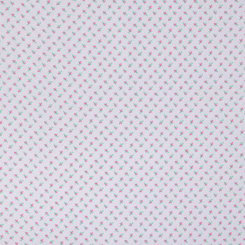 Pink Bud Flannel Fabric