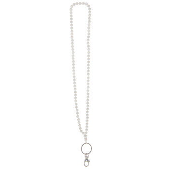 Knotted Glass Pearl Lanyard