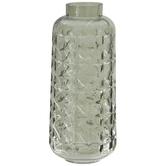 Green Geometric Glass Vase - Large
