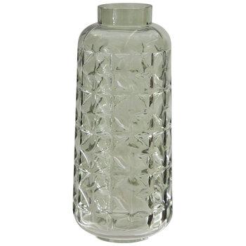 Green Geometric Glass Vase