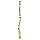 Gold Pyrite Nugget Bead Strand