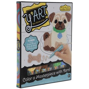 Pug Puppy Y'Art Board Kit