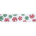 Red & Green Glitter Candy Wired Edge Ribbon - 1 1/2