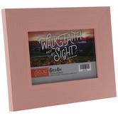 "Pink Distressed Wood Look Frame - 6"" x 4"""