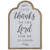 Give Thanks To The Lord Wood Wall Decor