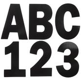 Matte Black Alphabet Stickers