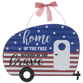 Home Of The Free Camper Metal Wall Decor