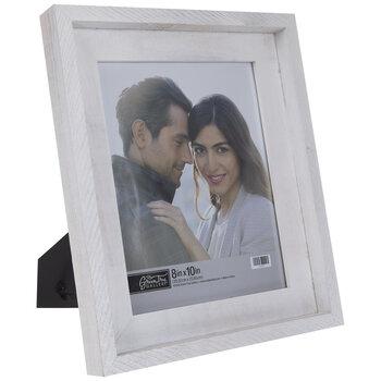 """White Barnwood Frame - 8"""" x 10"""""""