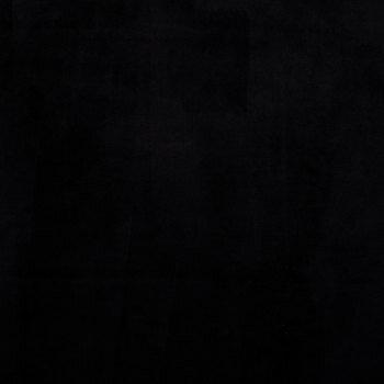 Black Minky Plush Fleece Fabric