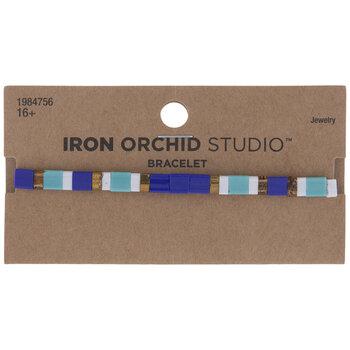 Blue Tile Bead Bracelet