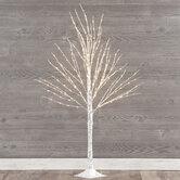 White Birch Pre-Lit Christmas Tree - 4'