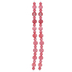 Red Round Cracked Glass Bead Strands
