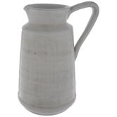 White Cracked Glaze Pitcher Vase
