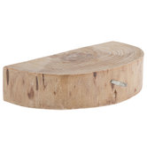 Half-Round Wood Slice Wall Shelf