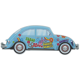 Peace & Love Volkswagen Beetle Metal Sign
