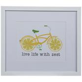 Lemon Bike Framed Wood Wall Decor