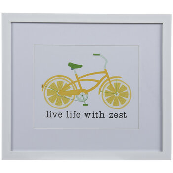 Lemon Bike Framed Wood Wall Decor