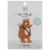 Stuffed Felt Tribal Bear Needle Art Kit