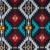 Black & Multi Tribal Print Duck Cloth Fabric