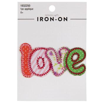 Patchwork Love Iron-On Applique