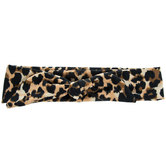 Leopard Print Headband With Knot