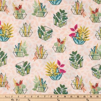 Boho Terrarium Apparel Fabric