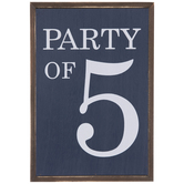 Party Of 5Wood Decor