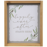 Happily Ever After Wood Wall Decor