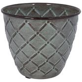 Geometric Metal Flower Pot