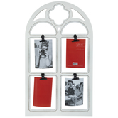 White Arch Wood Clip Collage Frame