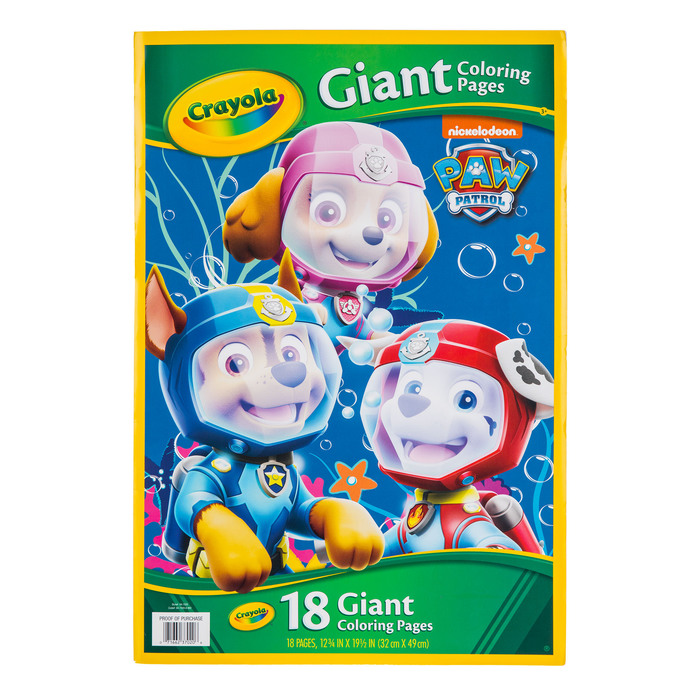 - Paw Patrol Giant Coloring Pages Book Hobby Lobby 576900