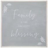 Family Blessing Wood Wall Decor