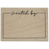 Created By Label Rubber Stamp