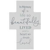 In Memory Of A Life Wood Cross