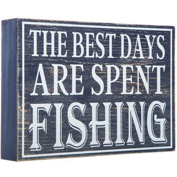 Best Days Fishing Wood Wall Decor