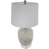 Silver Diamond Mercury Glass Lamp
