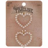 Plastic Pearl Heart Pendants