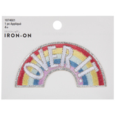 Over It Rainbow Iron-On Applique
