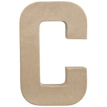 "Paper Mache Letter C - 8 1/4"""
