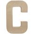 Paper Mache Letter C - 8 1/4
