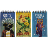 Mini Rock Faith Spiral Notebooks