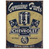 Chevrolet Genuine Parts Metal Sign
