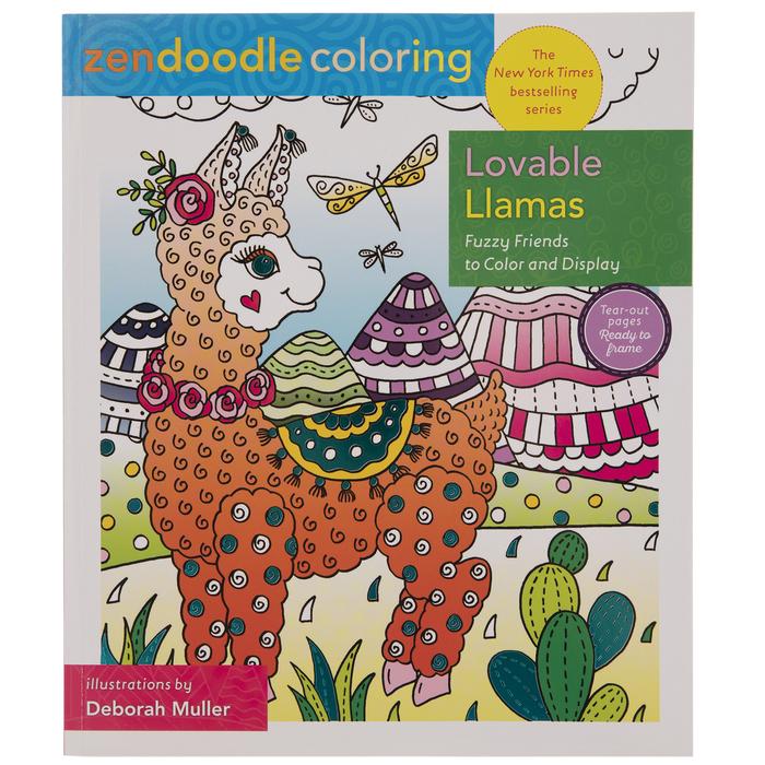 Zendoodle Lovable Llamas Coloring Book Hobby Lobby 1976612