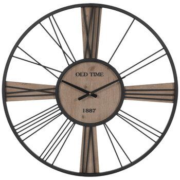 Old Time Black Metal Wall Clock
