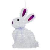 White Tinsel Bunny Wall Decor