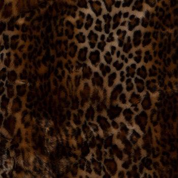 Leopard Print Pattern Faux Fur Fabric