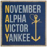 Navy Phonetic Alphabet Wood Decor