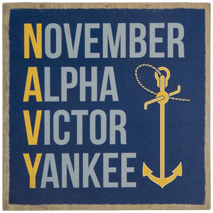 Navy Phonetic Alphabet Wood Decor Hobby Lobby 1947126