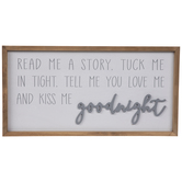 Kiss Me Goodnight Wood Wall Decor