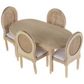Miniature French Country Table & Chairs